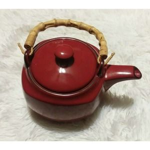 Southern Living at Home Harmony Red Tea Pot